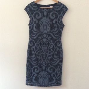 julia jordan    Navy Blue Sleeveless Sheath Dress